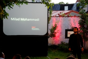 Milad Mohammadi, Master of law, Bachelor of Social Sciences in Economics and Political Science and one of the initiators of the acclaimed Soppkök Stockholm.
